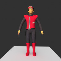 captain scarlet 3d model