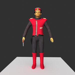 captain scarlet 3d model