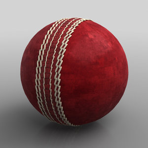leather cricket ball 3d model