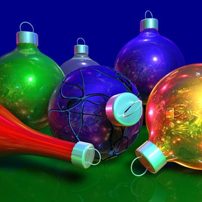 christmas baubles c4d