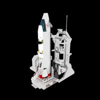 Lego Space Shuttle and launch pad