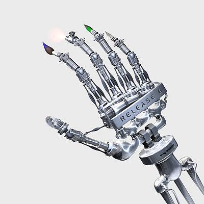 robot arm machine 3d model