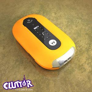 motorola pebl cell phone 3d 3ds