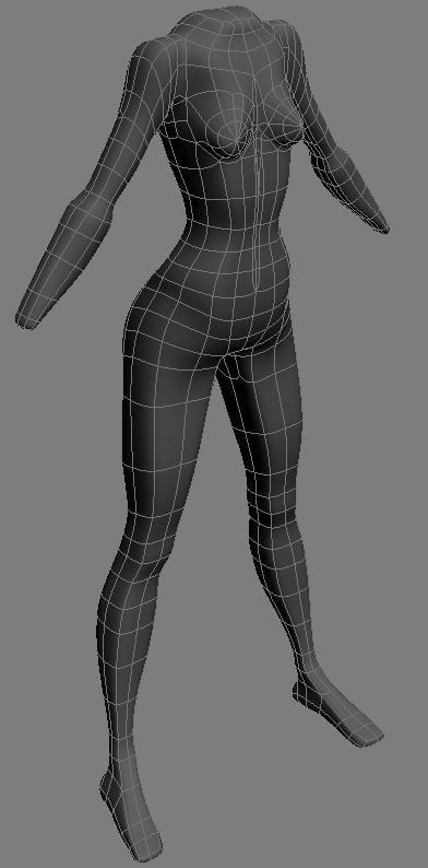 3d model body female