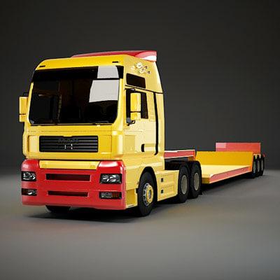 semi truck trailer 3d max