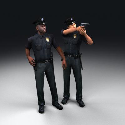 3d policemen beretta 92f model