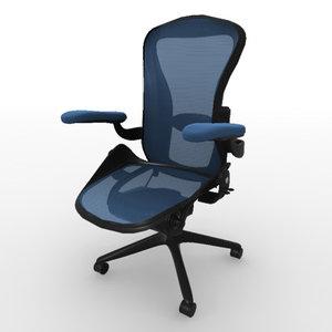 3d aeron office chair model