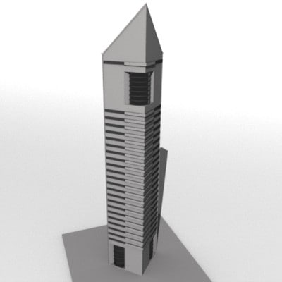 3dsmax skyscraper sky scraper