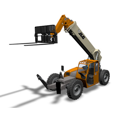 jlg g12-55a telehandler construction 3d model