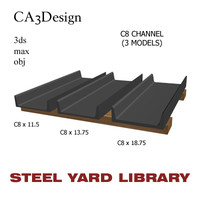 3d model c8 channel steel