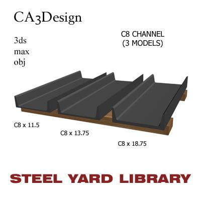 3d model c8 channel steel
