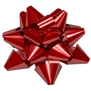 3d model star ribbon bow