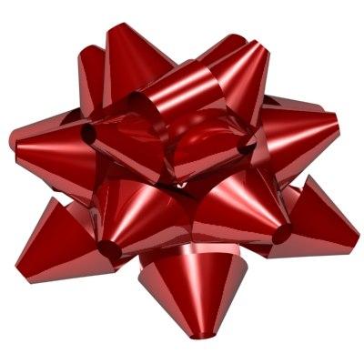 3d model star ribbon bow