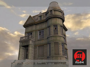 old victorian home 3d model