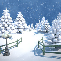 maya park scene winter