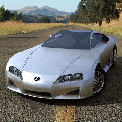 max lexus lf-a car