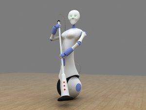 vacuum robot 3d model