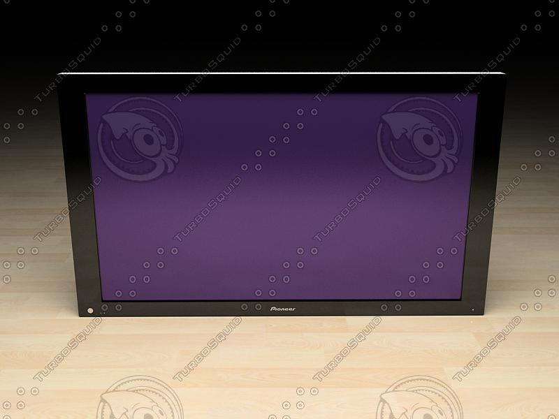 pioneer plasma tv 3d model