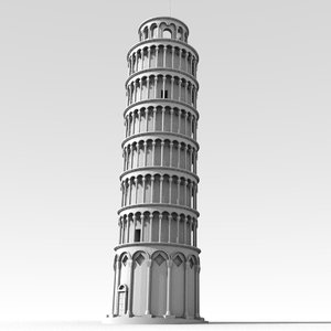 obj leaning tower pisa