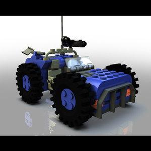 lego pickup truck 3d model