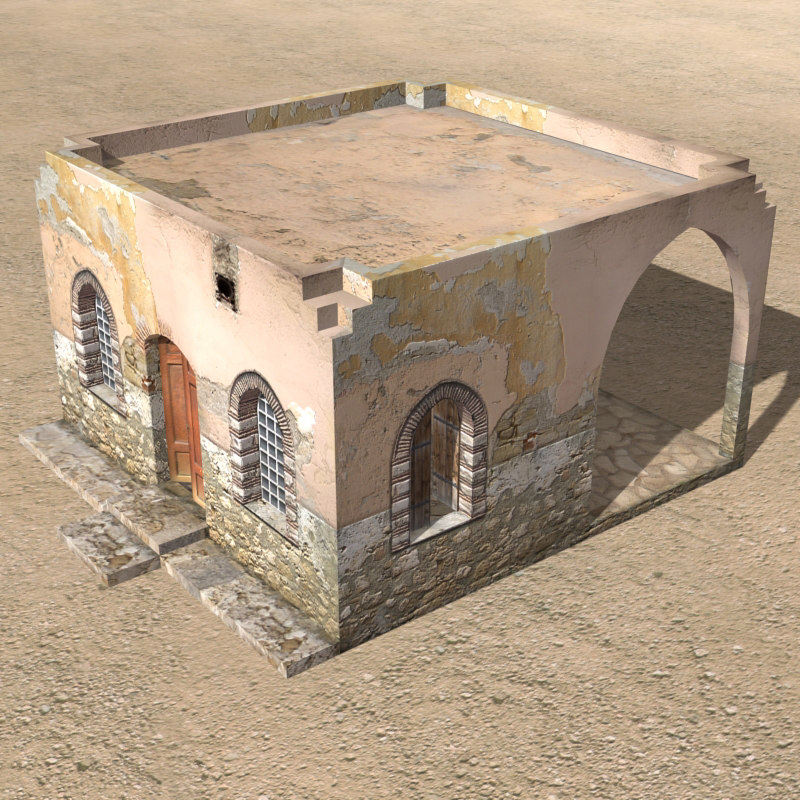 arab houses 3d 3ds