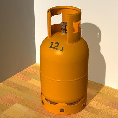 cinema4d gas cylinder