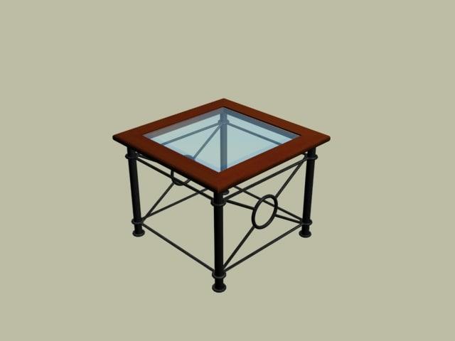 3d wrought-iron corner table model