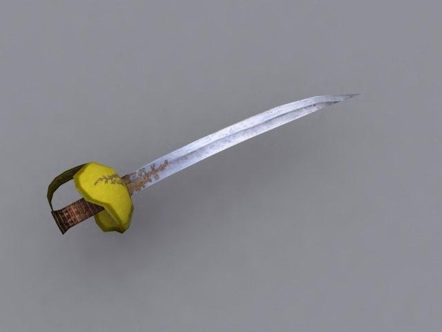 saber cut 3d model