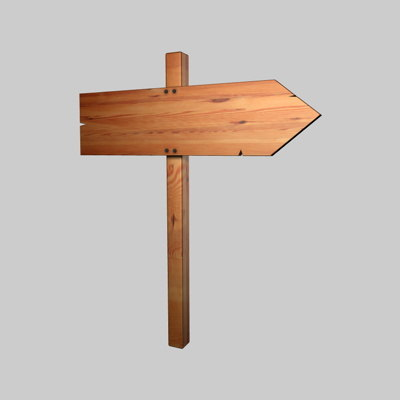 3ds max wooden street sign