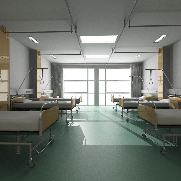 medical recovery room 3d model