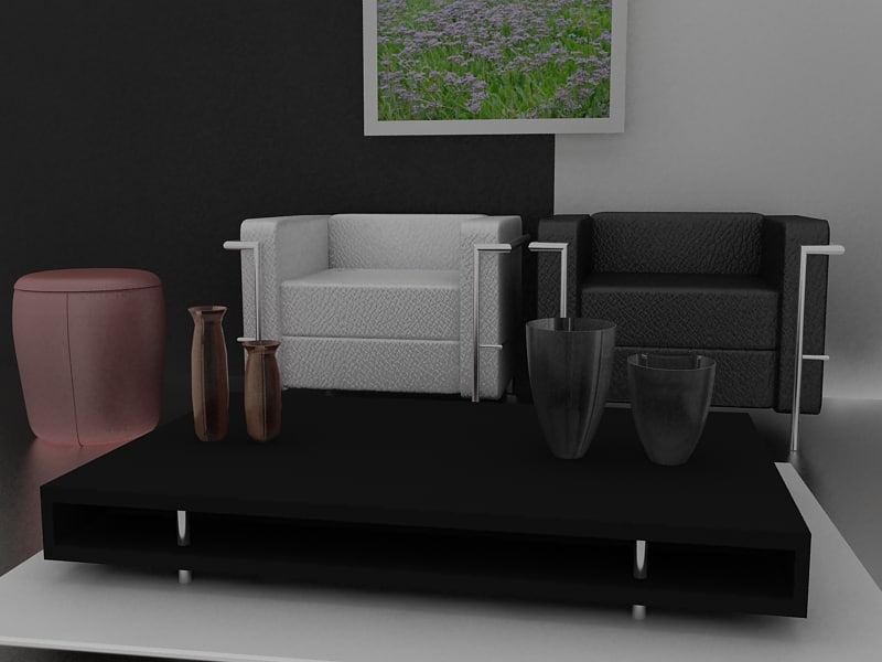 modern interior 3d max