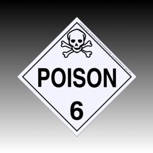 3ds max poison placard sign