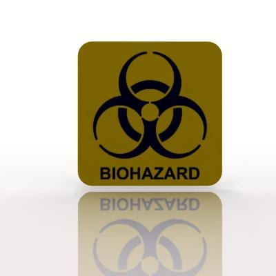 biohazard warning sign 3d max