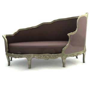 3d liege sofa