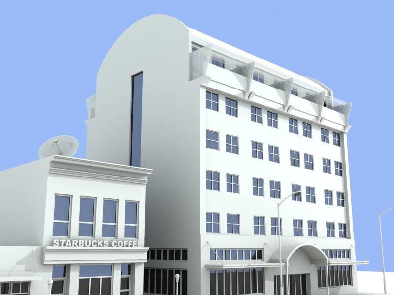 3d model starbucks mondo building