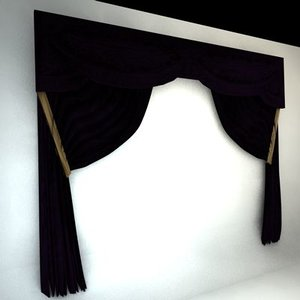 theater curtains 3ds