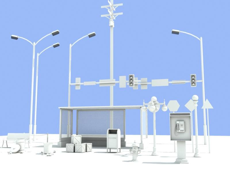 road items vol 2 3d model