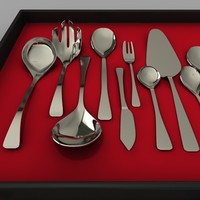 cutlery set gravy 3d model