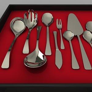 cutlery set gravy 3d model