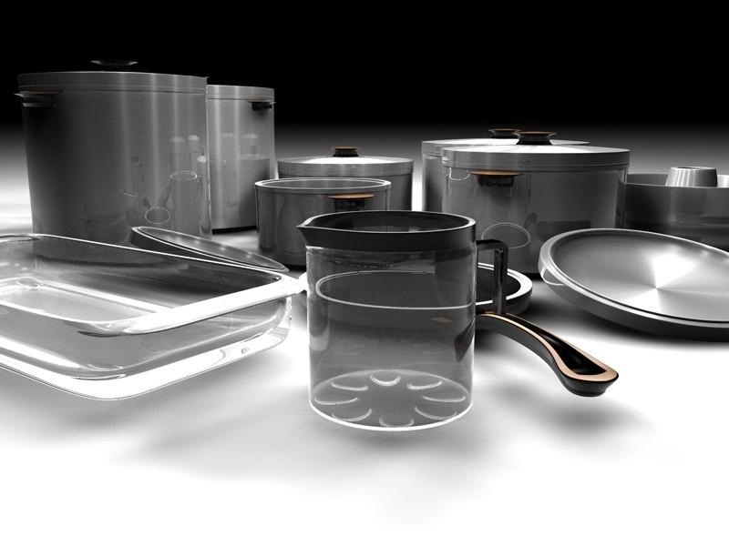 3d model cookware set