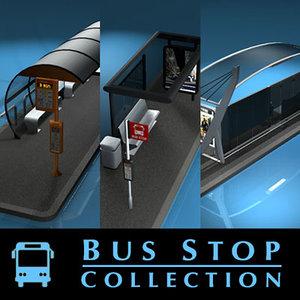 bus stop c4d