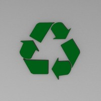recycling 3d model