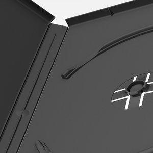 3d dvd case model