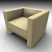 3d model chair modern style