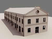 3d military darc museum industrial architecture model