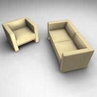 sofa chair modern 3ds