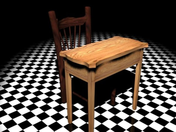 3d 3ds cain chair table