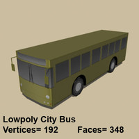 3d model city bus