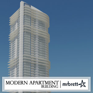 3ds modern apartment building
