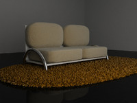 Modern couch and shag rug-Alex Whitaker Design.ZIP